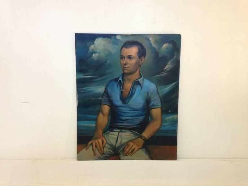 1950s Portrait Oil Painting
