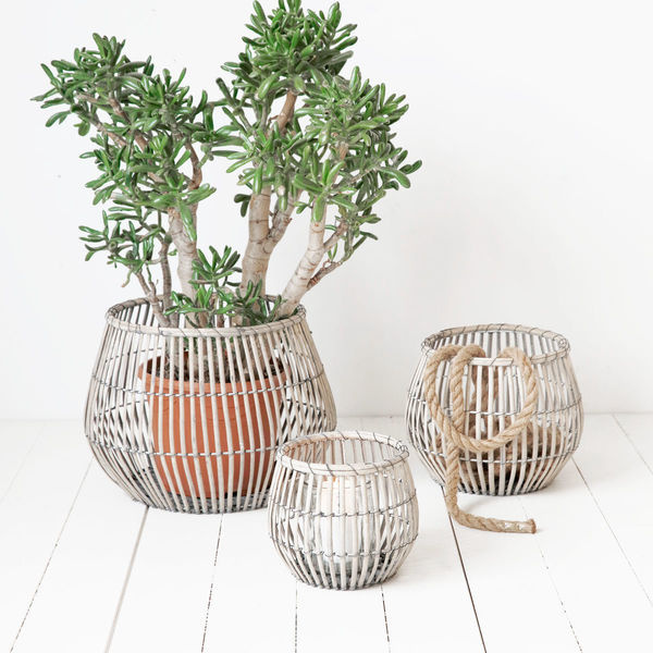 Set Of 3 Wicker Baskets From House Doctor