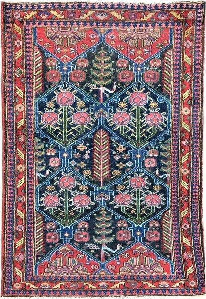 Vintage Persian Bakhtiar Rug 1.60m X 1.07m