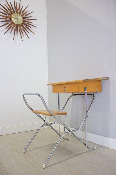 Mid Century Retro Vintage Triang Childrens School Desk Fold Away