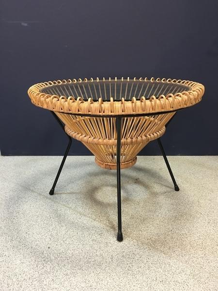 Franco Albini Cane And Glass Table