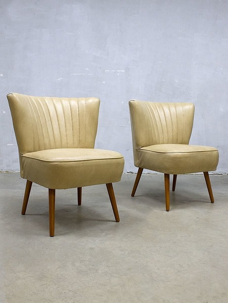 Set Of 2 Vintage Retro Clubchair Cocktail Chair Sixties Cocktail Chair From The Sixties