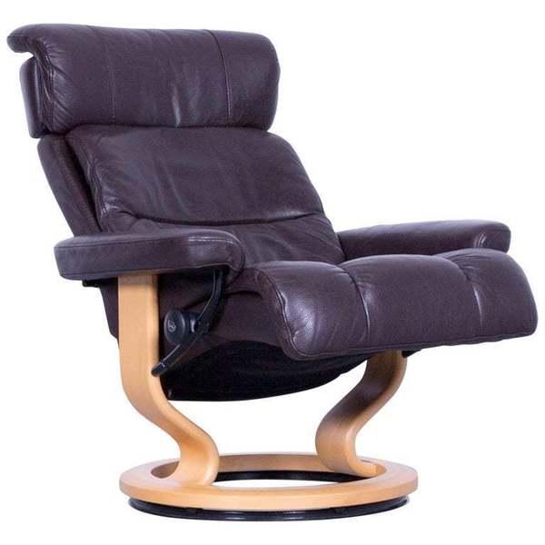 Super Ekornes Stressless Memphis Armchair Brown Leather Modern Recliner Chair Designer Onthecornerstone Fun Painted Chair Ideas Images Onthecornerstoneorg