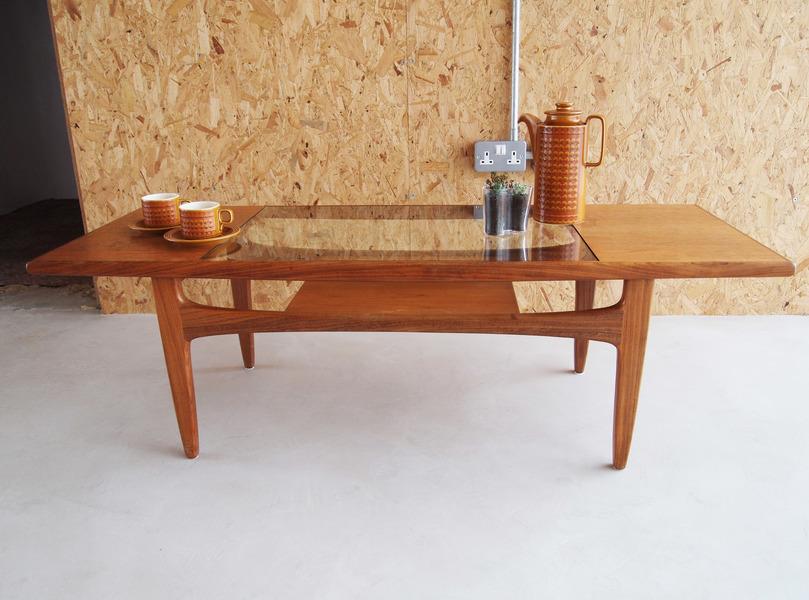 "G Plan ""Fresco"" 1960s / 1970s Teak & Glass Coffee Table"