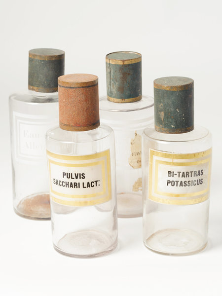 Beautiful Vintage French Apothecary Bottles