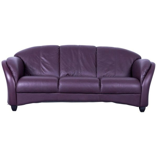 Awe Inspiring Himolla Designer Sofa Leather Purple Three Seat Couch Germany Modern Pdpeps Interior Chair Design Pdpepsorg