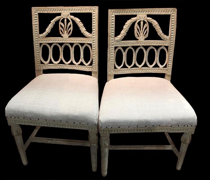 Set Of Four 19th Century Swedish Chairs photo 1