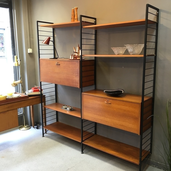 Ladderax Shelving System With 2 Bays