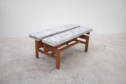 Brutalist Concrete Table