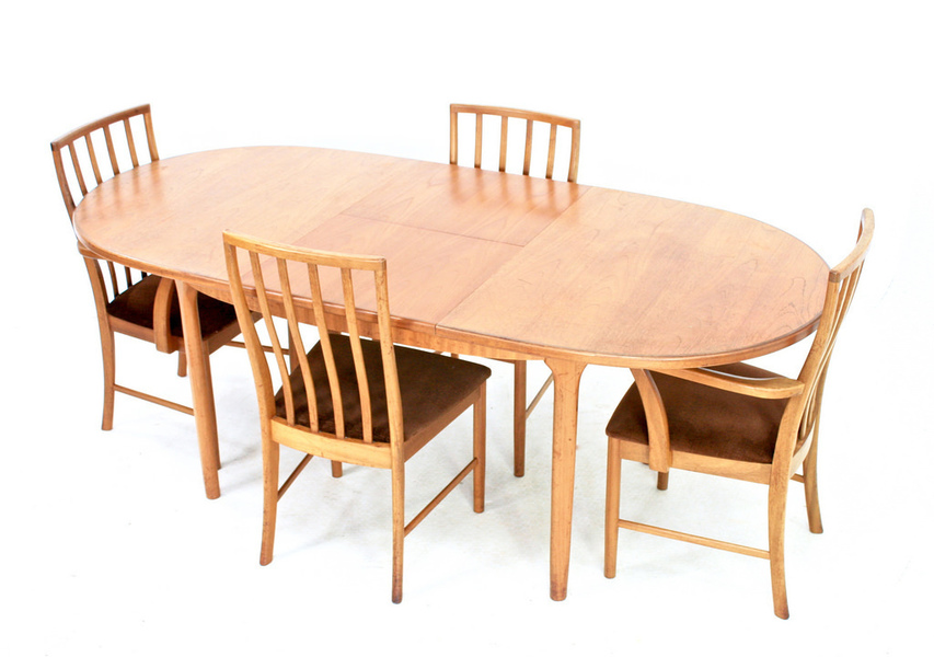 Vintage 1970 S Danish Dining Table & 4 Chairs By Mcintosh