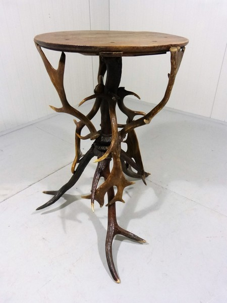 Antlers Side Table, 1910 1290's
