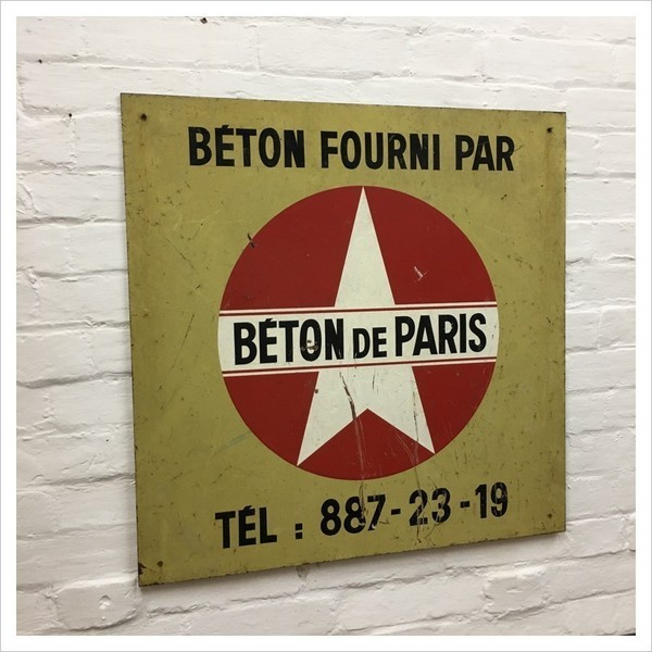 Industrial French Metal Sign