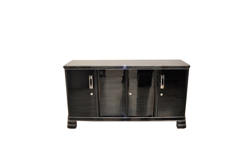 English Art Deco Sideboard With A Straight Forward Design
