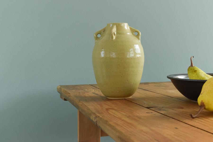 Vintage Studio Pottery Vase With Handles By British Potter Christopher John Snowden