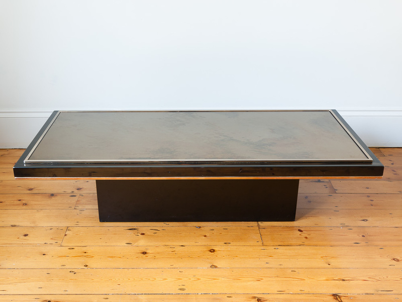 Roger Vanhevel Rectangular Mirrored Coffee Table