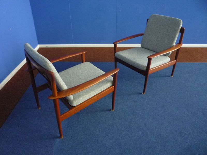 Mid Century Armchair By Grete Jalk For Poul Jeppesen, Set Of 2