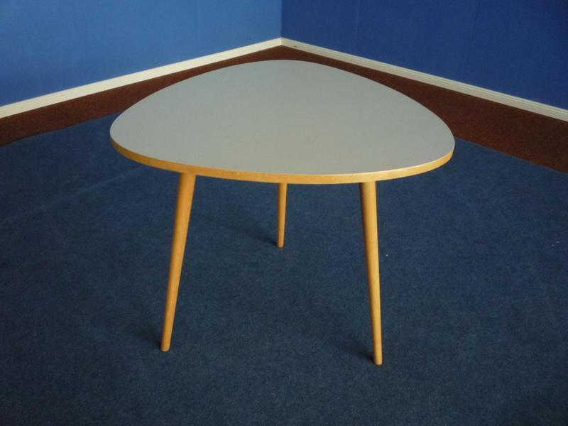 Mid Century Formica & Beechwood Table, 1950s