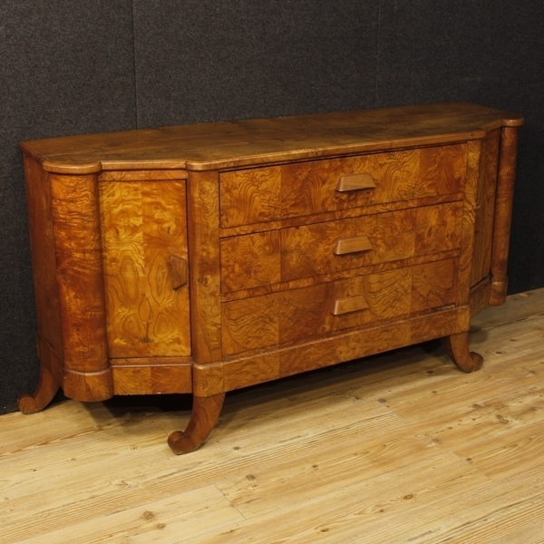 French Art Deco Sideboard In Wood