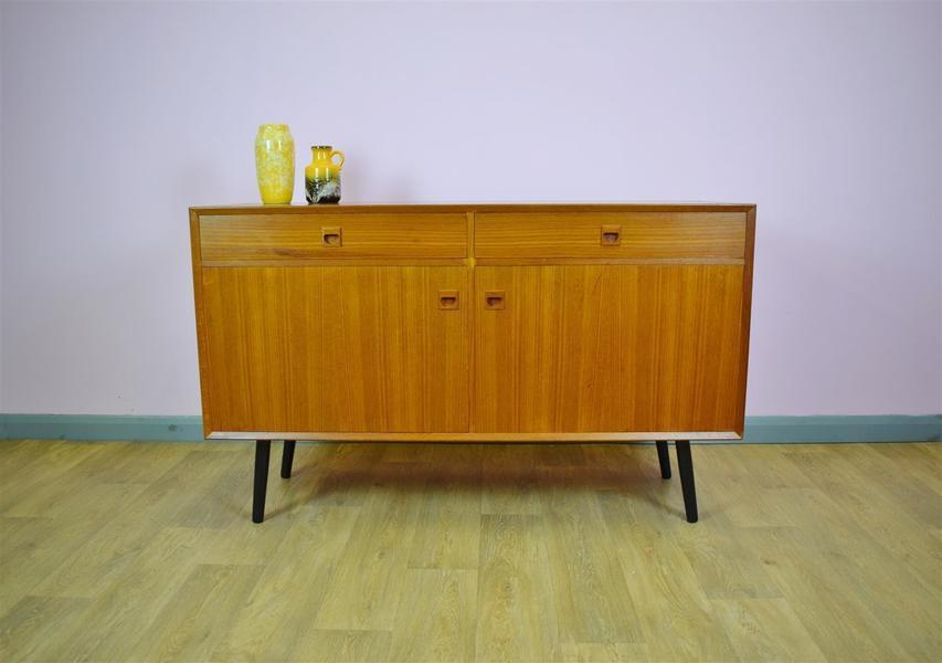Mid Century Retro Danish Brouer Teak Sideboard Tv Cabinet With Drawers 1970s