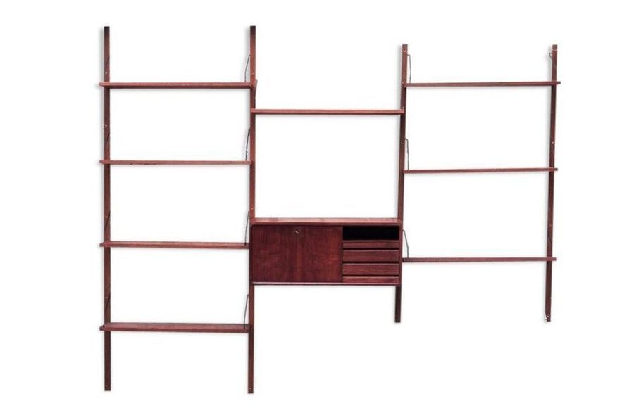 Vintage Teak Wall Unit By Poul Cadovius For Royal System