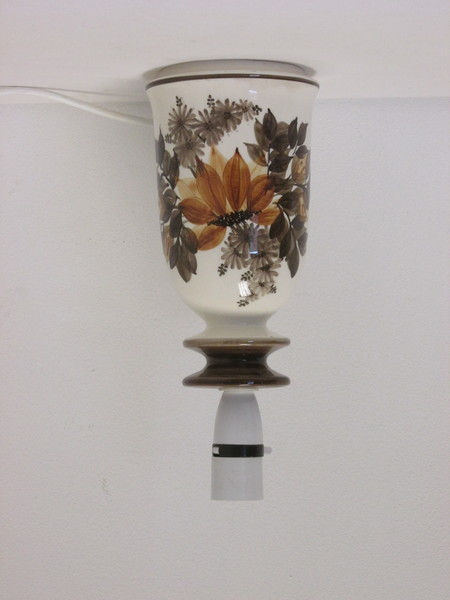 Retro 1960s/1970s Jersey Pottery Ceramic Floral Design Bedside Or Table Lamp Base