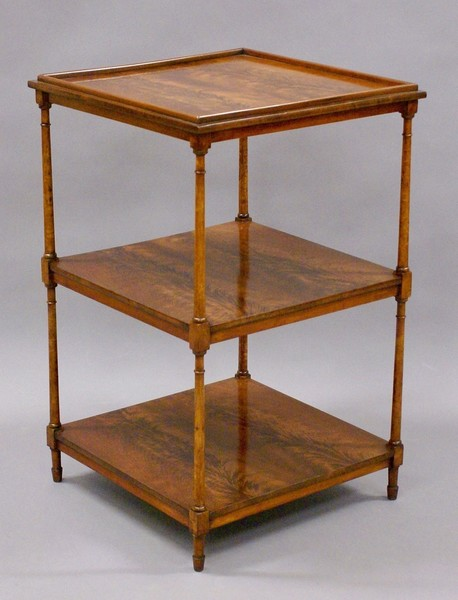 A Flame Mahogany And Birds Eye Maple Etagere