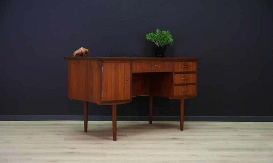 Vintage Retro Writing Desk In Teak   1960 S