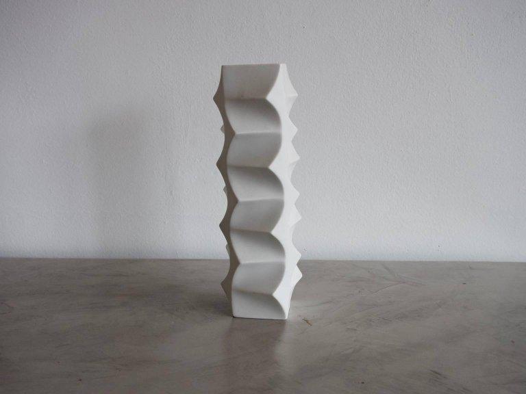 White Porcelain Vase By Heinrich Fuchs For Lorenz Hutschenreuther