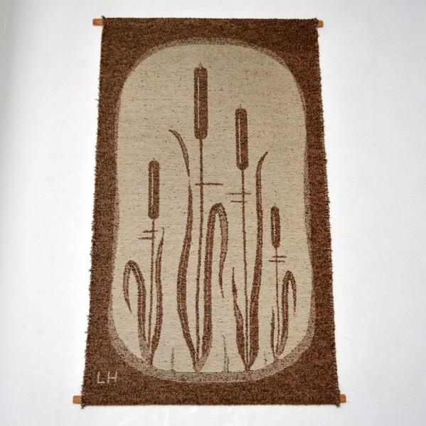 Retro Scandinavian Wool Tapestry Vintage 1960's