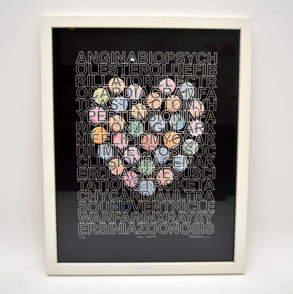 Love Hearts – Signed Limited Edition Silkscreen Print By Brad Faine 6/150