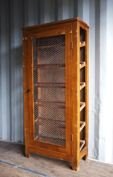 Vintage French Shoe Display Cabinet