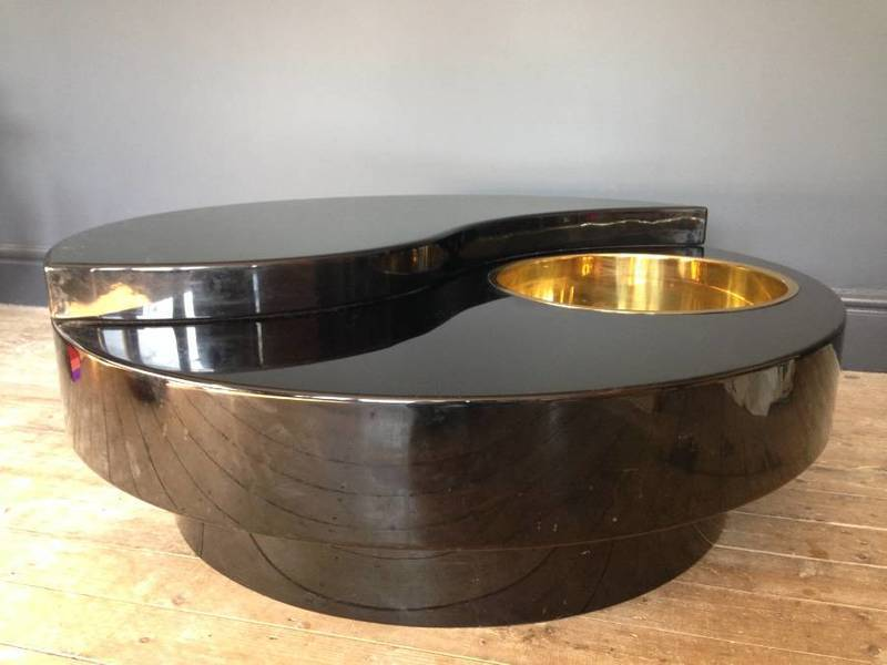 Willy Rizzo Revolving Yin Yang Coffee Table