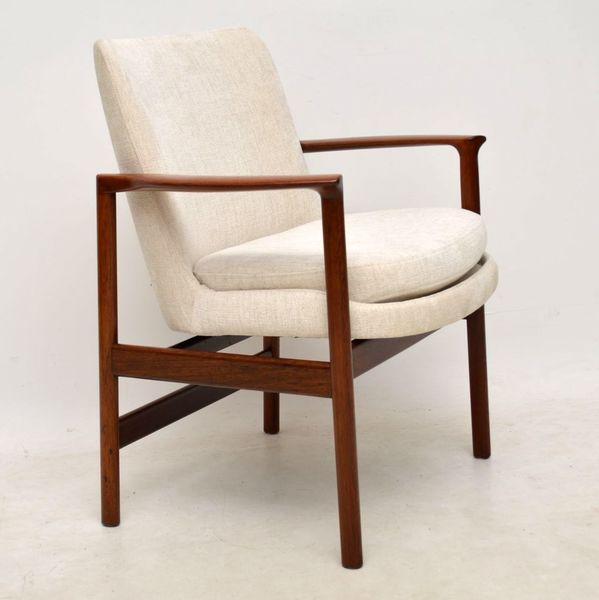 1960's Vintage Danish Rosewood Armchair