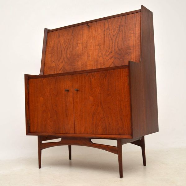 1950's Teak Writing Bureau By Dalescraft