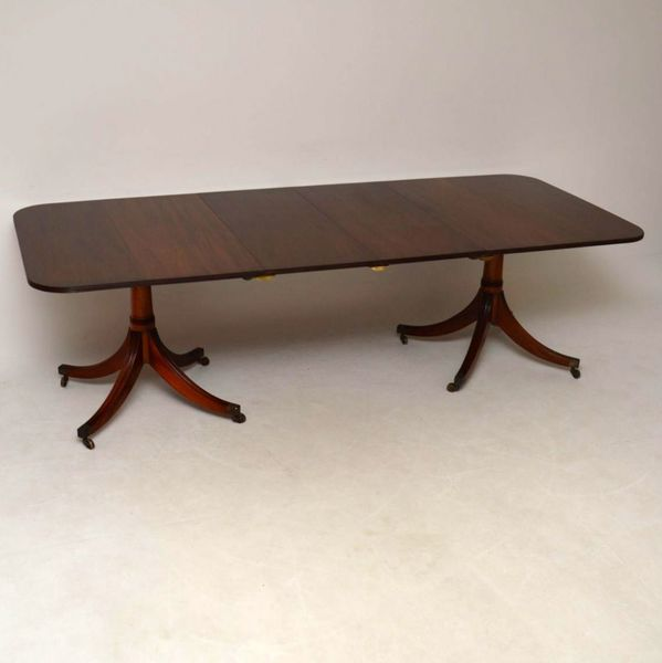 Large Antique Mahogany Extending Dining Table