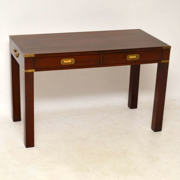 Antique Mahogany Campaign Desk / Writing Table