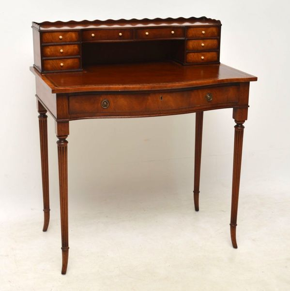 Antique Mahogany Bonheur Du Jour Desk