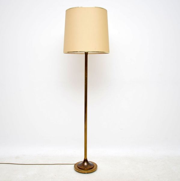 1950's Vintage Brass Floor Lamp