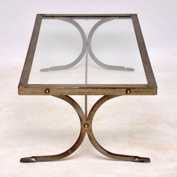 1950's Iron & Brass Vintage Coffee Table