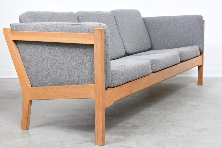1970s Oak Three Seat Sofa