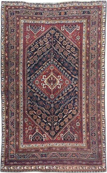 Antique Persian Qashqai Rug 2.35m X 1.42m