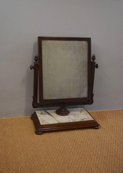 big sale edf13 718e9 English Mahogany & Marble Dressing Table Mirror