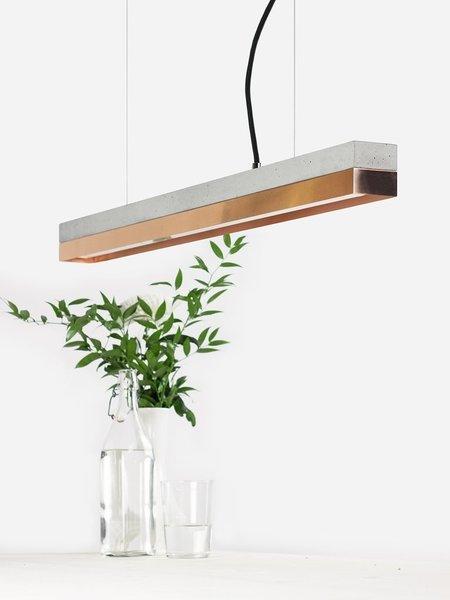 Pendant Light Concrete & Copper Small