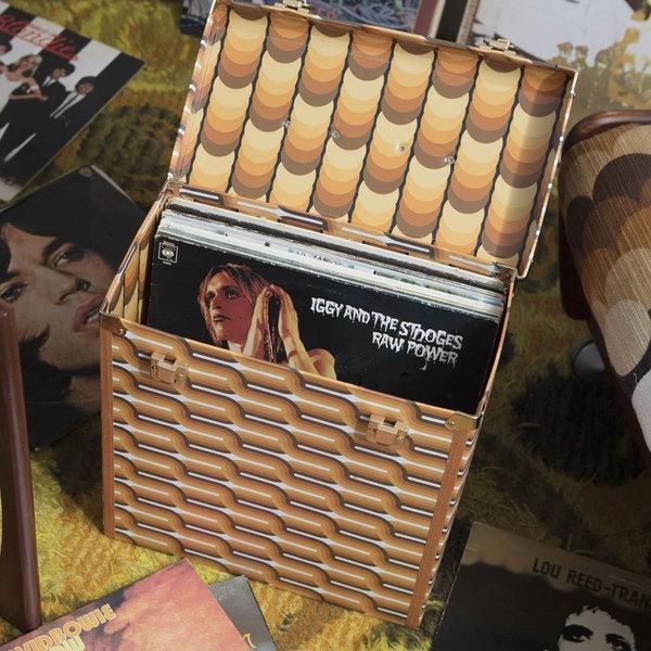 Exclusive Era Vintage Design Record Box. Vinyl Record Resurgence. Record Case. New. Gift. Loop Design.