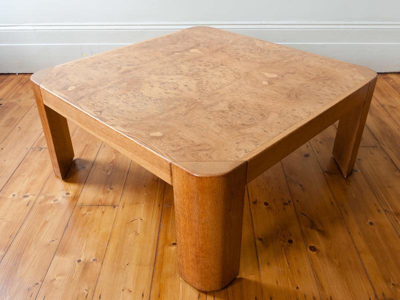 Large Burr Oak Square Coffee Table
