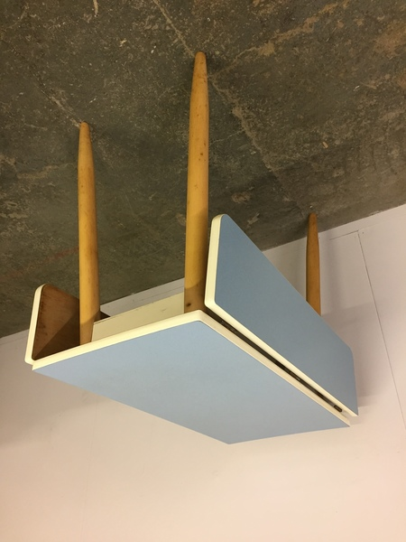 Small Pale Blue Formica Retro Table