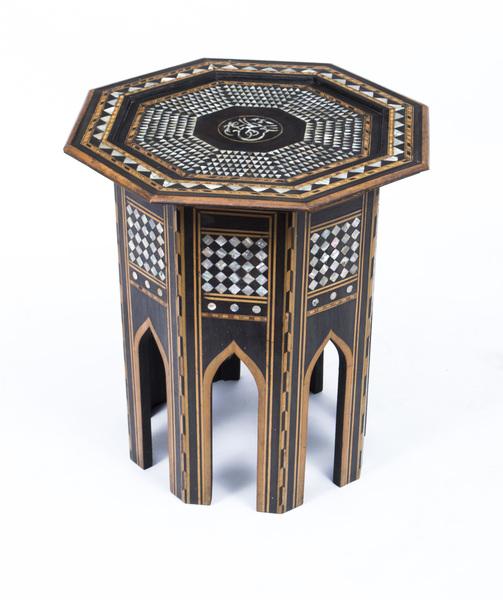 Antique Persian Inlaid Octagonal Occasional Table C.1900