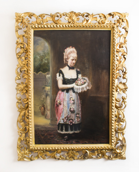 Antique Oil Painting John Horsburgh 1881 photo 1
